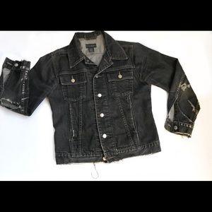 Vintage 90s Jean Jacket w Vtg Judas Priest Patch